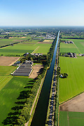 Nederland, Noord-Brabant, Nederweert, 23-08-2016; Zuid-Willemsvaart, op de grens van Limburg en Noord-Brabant.<br /> South Willem's Canal connecting Maastricht and 's-Hertogenbosch.<br /> <br /> aerial photo (additional fee required); <br /> luchtfoto (toeslag op standard tarieven);<br /> copyright foto/photo Siebe Swart