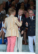 Henley, GREAT BRITAIN. [The Double Sculls Challenge Cup ]  Leander Club, collect, their Trophy,  from, left, The Rt. Hon. The Lord Mayor of London. Alderman David WOTTON at 2012 Henley Royal Regatta...Sunday  18:00:52  01/07/2012. [Mandatory Credit, Peter Spurrier/Intersport-images]...Rowing Courses, Henley Reach, Henley, ENGLAND . HRR.