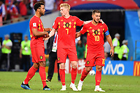v.re:Eden HAZARD (BEL),Kevin DE BRUYNE (BEL),N.N nach Spielende. Aktion. Belgien (BEL) - Panama (PAN) 3-0, Vorrunde, Gruppe G, Spiel 13, am 18.06.2018 in SOTSCHI,Fisht Olymipic Stadium. Fussball Weltmeisterschaft 2018 in Russland vom 14.06. - 15.07.2018. *** ve Eden HAZARD BEL Kevin DE BRUYNE BEL N N after end of game Action Belgium BEL Panama PAN 3 0 Preliminary Group G Match 13 on 18 06 2018 in SOCHI Fisht Olymipic Stadium Football World Cup 2018 in Russia vom 14 06 15 07 2018