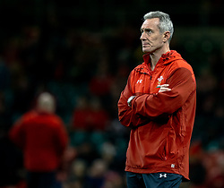 Attack Coach Rob Howley of Wales during the pre match warm up<br /> <br /> Photographer Simon King/Replay Images<br /> <br /> Under Armour Series - Wales v South Africa - Saturday 24th November 2018 - Principality Stadium - Cardiff<br /> <br /> World Copyright © Replay Images . All rights reserved. info@replayimages.co.uk - http://replayimages.co.uk