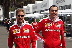 (L to R): Sebastian Vettel (GER) Ferrari with Riccardo Adami (ITA) Ferrari Race Engineer.<br /> 27.10.2016. Formula 1 World Championship, Rd 19, Mexican Grand Prix, Mexico City, Mexico, Preparation Day.<br />  <br /> / 271016 / action press