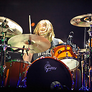 WASHINGTON, DC - November 11th, 2011 - Drummer Taylor Hawkins performs with the Foo Fighters at the Verizon Center in Washington, D.C. The show was the band's first area appearance behind their 2010 album Wasting Light.  (Photo by Kyle Gustafson/For The Washington Post)