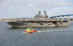 SAN DIEGO (May 15, 2017) The amphibious assault ship USS Makin Island (LHD 8) transits the San Diego Bay as it returns from a seven-month deployment to the Pacific, Middle East, and the Horn of Africa. (U.S. Navy photo by Mass Communication Specialist 3rd Class Brett A. Anderson/Released)170515-N-UB927-063<br /> Join the conversation:<br /> http://www.navy.mil/viewGallery.asp<br /> http://www.facebook.com/USNavy<br /> http://www.twitter.com/USNavy<br /> http://navylive.dodlive.mil<br /> http://pinterest.com<br /> https://plus.google.com