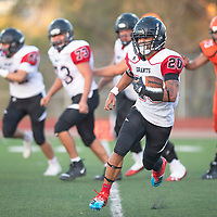 Isaiah Johnson (20) with a touchdown run for Grants  against Gallup at Angelo DiPaolo Memorial Stadium Friday night in Gallup.