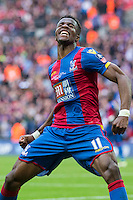 GOAL CELEBRATION - Crystal Palace's Wilfried Zaha (right) celebrates his side's opening goal, scored by Jason Puncheon<br /> <br /> Photographer Craig Mercer/CameraSport<br /> <br /> Football - The Emirates FA Cup Final - Crystal Palace Manchester United - Saturday 21st May 2016 - Wembley - London<br /> <br /> © CameraSport - 43 Linden Ave. Countesthorpe. Leicester. England. LE8 5PG - Tel: +44 (0) 116 277 4147 - admin@camerasport.com - www.camerasport.com