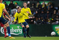 Jens Martin Gammelby (Brøndby IF) under kampen i 3F Superligaen mellem Brøndby IF og Lyngby Boldklub den 1. marts 2020 på Brøndby Stadion (Foto: Claus Birch).