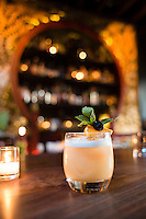Expatriate, a Northeast Portland cocktail bar with drinks from Kyle Linden Webster and drinking snacks from chef Naomi Pomeroy. Portland, Oregon