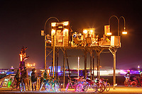 Welcome Home by: Joey Howell and Brian Dean of SALT MIND from: Salt Lake City, UT year: 2019 Burners call the playa home. Home not because of the location, but because of the people we share it with; friends, family, lovers, strangers. Welcome Home creates an absurdly normal setting by taking a space associated with default homes and bringing it to our true home. This fully decorated parlour in the sky invites wanderers to climb, explore, and enjoy the view. URL: https://www.saltmindslc.com/ Contact: howelljosephw@gmail.com https://burningman.org/event/brc/2019-art-installations/?yyyy=&artType=H#a2I0V000001AVkeUAG