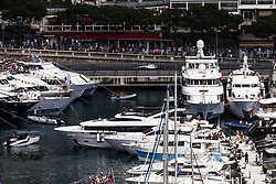 May 24, 2018 - Montecarlo, Monaco - 18 Lance Stroll from Canada with Williams F1 Mercedes FW41 in the middle of the boats  during the Monaco Formula One Grand Prix  at Monaco on 24th of May, 2018 in Montecarlo, Monaco. (Credit Image: © Xavier Bonilla/NurPhoto via ZUMA Press)