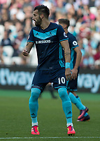 Football - 2016 / 2017 Premier League - West Ham United vs. Middesborough <br /> <br /> Alvaro Negredo of Middlesborough at The London Stadium.<br /> <br /> COLORSPORT/DANIEL BEARHAM