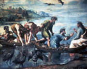 The Miraculous Draught of Fishes'. Raphael (Raffaello Santi  1483-1520) Italian painter.  Gouache.