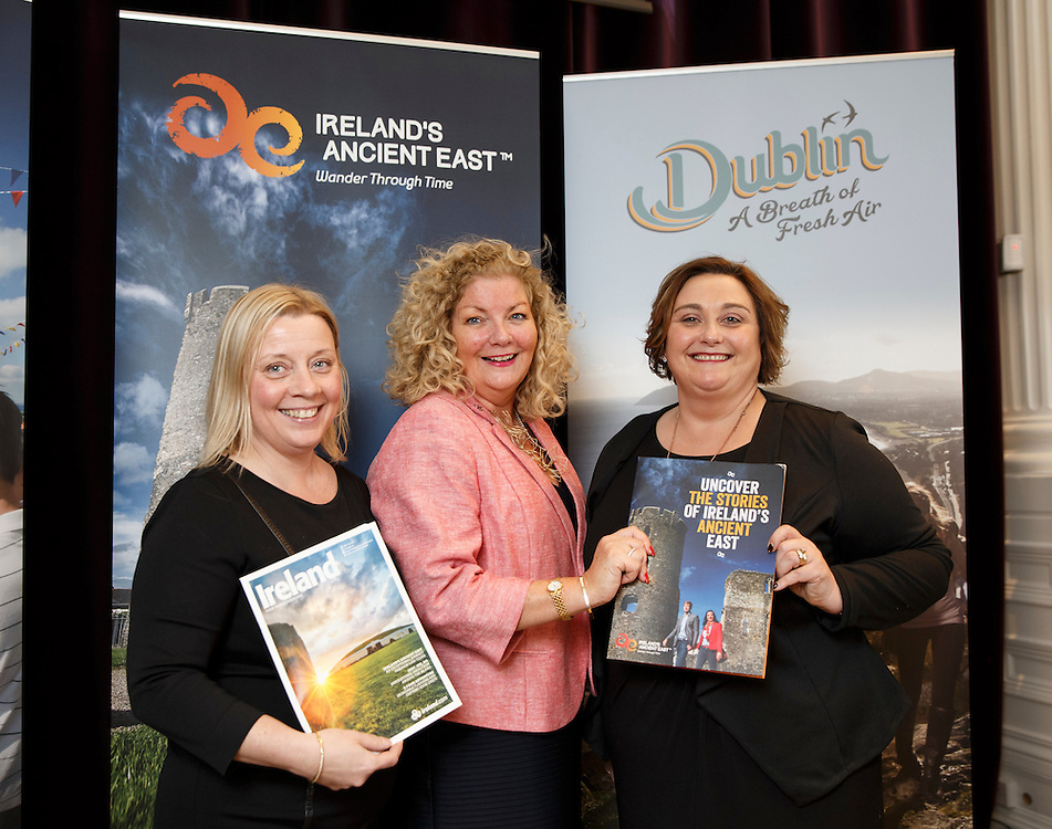 Tourism Ireland Celtic Connections 2016 event in the Corinthian, Glasgow. L to R :  Carrie Marr, Barrhead Travel, Caroline Mulligan TI, Trish Gill, Hamlet Court Hotel.  Picture Robert Perry 27th Jan 2016<br /> <br /> Must credit photo to Robert Perry<br /> <br /> Image is free to use in connection with the promotion of the above company or organisation. 'Permissions for ALL other uses need to be sought and payment make be required.<br /> <br /> <br /> Note to Editors:  This image is free to be used editorially in the promotion of the above company or organisation.  Without prejudice ALL other licences without prior consent will be deemed a breach of copyright under the 1988. Copyright Design and Patents Act  and will be subject to payment or legal action, where appropriate.<br /> www.robertperry.co.uk<br /> NB -This image is not to be distributed without the prior consent of the copyright holder.<br /> in using this image you agree to abide by terms and conditions as stated in this caption.<br /> All monies payable to Robert Perry<br /> <br /> (PLEASE DO NOT REMOVE THIS CAPTION)<br /> This image is intended for Editorial use (e.g. news). Any commercial or promotional use requires additional clearance. <br /> Copyright 2015 All rights protected.<br /> first use only<br /> contact details<br /> Robert Perry     <br /> 07702 631 477<br /> robertperryphotos@gmail.com<br />        <br /> Robert Perry reserves the right to pursue unauthorised use of this image . If you violate my intellectual property you may be liable for  damages, loss of income, and profits you derive from the use of this image.