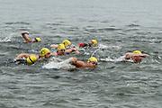 Swim start of the 2018 Hague Endurance Festival Sprint Triathlon