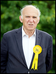 May 20, 2017 - London, London, United Kingdom - Image ©Licensed to i-Images Picture Agency. 20/05/2017. London, United Kingdom. Vince Cable unveils a national poster. .Vince Cable unveils a national poster at Twickenham Rugby Football Club, to kick start the next stage of the Liberal Democrat general election campaign..The Liberal Democrat Shadow Chancellor and a former Business Secretary, is looking to regain the  Twickenham seat  for his party.Picture by Elliott Franks / i-Images (Credit Image: © Elliott Franks/i-Images via ZUMA Press)