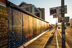 Berlin Wall at sunset, Germany. 03/06/14. Photo by Andrew Tallon