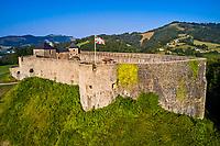 France, Pyrénées-Atlantiques (64), Pays Basque, Mauleon-Licharre, le chateau fort // France, Pyrénées-Atlantiques (64), Basque Country, Mauleon-Licharre, the fortified castle