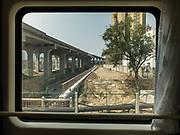 Suburbs of Xian. Window view across China, from Hong Kong to Urumqi, Xinjiang.