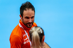 Coach Emmanuel Mayonnade of Netherlands in action during the Women's EHF Euro 2020 match between Netherlands and Norway at Sydbank Arena on december 10, 2020 in Kolding, Denmark (Photo by RHF Agency/Ronald Hoogendoorn)