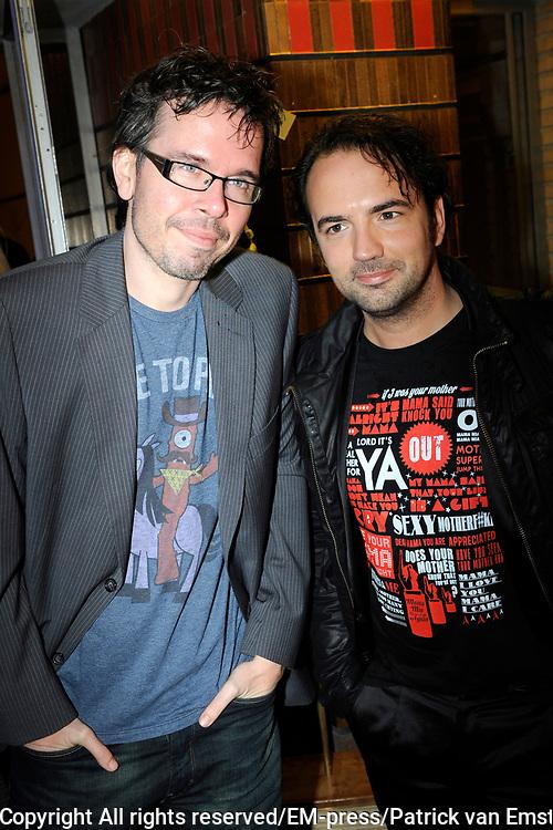 AVRO Radiogala 2011 in het Stadhuis van Hilversum.<br /> <br /> Op de foto: Michiel Veenstra (L) en Gerard Ekdom