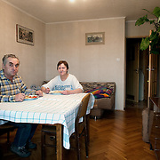 Danuta 65, Władysław 65<br /> <br /> Nowa Huta, Kraków, Poland  low income, higher education <br /> <br /> Both we are pensioners now. Danuta used to work as an accountant in Kraków and Władysław was an engineer in a building company. <br /> <br /> We eat together everyday it is our routine. Sometimes our son comes after work here for some food. When we were working we were coming home different times so we couldn't eat together. Probably the most important thing for a good meal is to give satisfaction to the people you cook for. On Sundays when we have our children around is a big celebration we spend more time on the table. We have a plot and in the summer we go there very often and we have BBQ's. In the plot we cultivate flowers, beans, onions, tomatoes, cucumbers etc. we spend all day there, it's beautiful. In the old days the factories owned those plots and giving them for free to the workers. Now we have to pay a small rent but it is worth it.