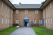 The main entrance to the residential wings. HMP Send, closed female prison. Ripley, Surrey.