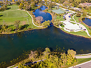Aerial photograph of Tenney Park, Madison, Wisconsin, USA.