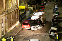 A sinkhole on Murano place in Edinburgh opened up as a council bin lorry reversed over it, threatening to swallow it, and the adjacent cars