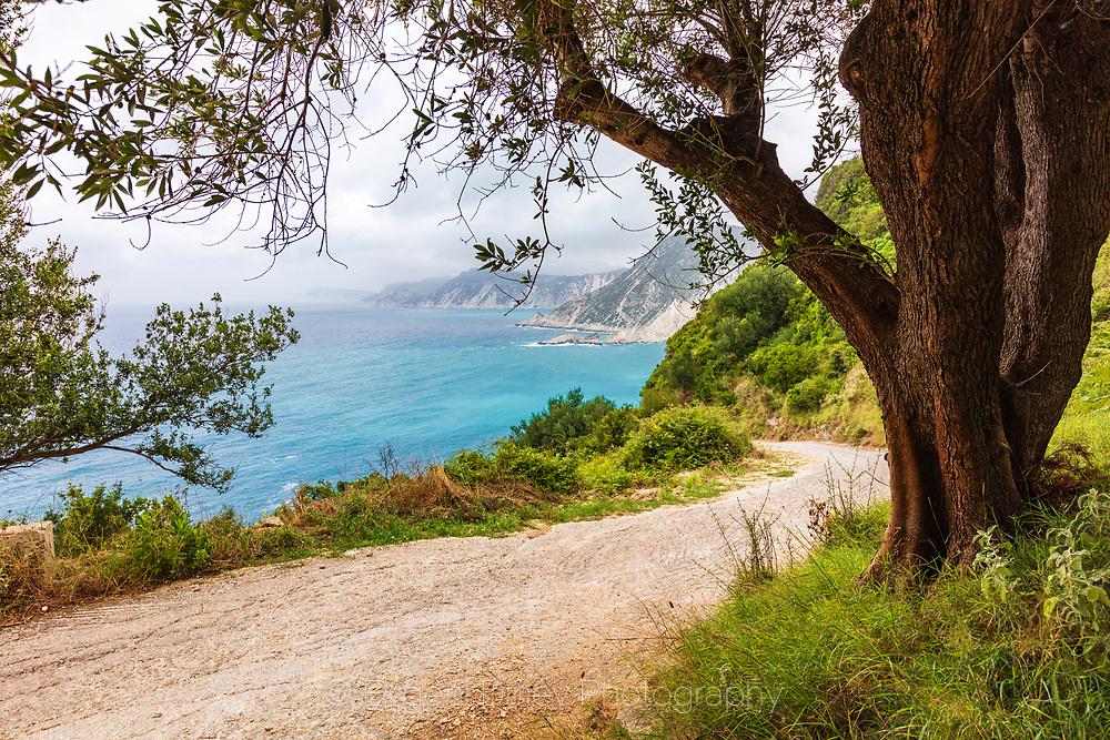 Road to Agia Eleni beach in Kefalonia