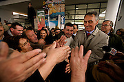 Cavaco Silva during campaign in the north of Portugal in the village of Sernancelhe. The former prime-minister is running for the second time for President, after ten years ago having lost to the cessant President.