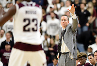 Texas A&M head coach Billy Kennedy calls out plays during the first half of an NCAA college basketball gameagainst Missouri, Saturday, Jan. 23, 2016, in College Station, Texas.  (AP Photo/Sam Craft)
