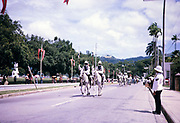 Independence Day, 31 August 1962, Port of Spain, Trinidad and Tobago, West Indies procession to opening parliament