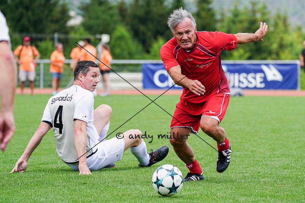 07.07.2019; Magglingen; Plusport-Tag<br /> Stefan Gasser (FC Nationalrat) Erni Maissen (Suisse Legends) <br /> (Andy Mueller/freshfocus)