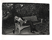 Bullingdon club member asleep during the Christchurch Ball. Oxford. 1981