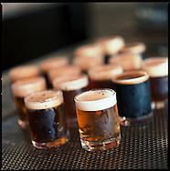 """A round of """"tasters"""" at the Pelican Brewery in Pacific City, Oregon"""