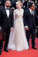 Yorgos Lanthimos, Elle Fanning and Alejandro Gonzalez Inarritu at the closing ceremony and The Specials film gala screening at the 72nd Cannes Film Festival Saturday 25th May 2019, Cannes, France. Photo credit: Doreen Kennedy