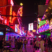 Sukhumvit - the Bangkok neon light district with night clubs, bars and sex shows