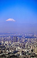 Looking from Mori Building (Roppongi Hills) toward Mt. Fuji, Tokyo, Japan