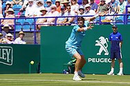 Cameron Norrie (GBR) Vs Lukas Lacko (SVK) Action at the Nature Valley International at Devonshire Park, Eastbourne, United Kingdom on 28th June 2018. Picture by Jonathan Dunville.