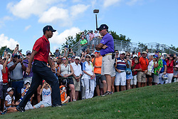 February 25, 2018 - Palm Beach Gardens, Florida, U.S. - Tiger Woods approaches the first hole during the final round of the 2018 Honda Classic at PGA National Resort and Spa in Palm Beach Gardens, Fla., on Sunday, February 25, 2018. (Credit Image: © Andres Leiva/The Palm Beach Post via ZUMA Wire)