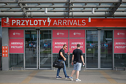 August 4, 2017 - Warsaw, Poland - The arrivals termina at Warsaw Modlin airport is seen on 4 August, 2017. Modlin is a smaller airport than the main Chopin airport and also lies further away, some 40 kilometers north of the city. Budget airlines like Ryanair tend to use the cheaper Modlin airport as destination for Warsaw. (Credit Image: © Jaap Arriens/NurPhoto via ZUMA Press)