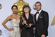 """88th Academy Awards press room.<br /> zBest film editing winner Margaret Sixel for the film """"Mad Max:Fury Road."""""""