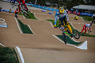 #143 (TORRES Nicolas) ARG at Round 2 of the 2020 UCI BMX Supercross World Cup in Shepparton, Australia.
