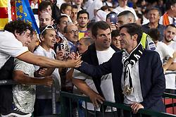 May 25, 2019 - Seville, Spain - Marcelino Garcia Toral of Valencia gretting supporters during the Spanish Copa del Rey match between Barcelona and Valencia at Estadio Benito Villamarin on May 25, 2019 in Seville. (Credit Image: © Jose Breton/NurPhoto via ZUMA Press)