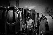 Alfredo in the wineyard.