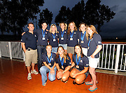Marathon, GREECE, GBR W8+,  silver medalist  women's eights at the  for the 2008  FISA European Rowing Championships,  presentation at the  Club Med. 20/09/2008  [Mandatory Credit Peter Spurrier/ Intersport Images] , Rowing Course; Lake Schinias Olympic Rowing Course. GREECE