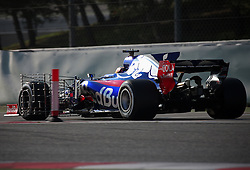 February 27, 2017 - Barcelona, Spain - The Toro Rosso of Carlos Sainz during the Formula 1 tests held in the Barcelona-Catalunya Circuit, on february 27, 2017. Photo: Jordi Galbany/Urbanandsport/Nurphoto  (Credit Image: © Jordi Galbany/NurPhoto via ZUMA Press)
