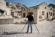 The Sassi are the most appropiate background for a photo shooting