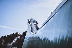 01.01.2021, Olympiaschanze, Garmisch Partenkirchen, GER, FIS Weltcup Skisprung, Vierschanzentournee, Garmisch Partenkirchen, Einzelbewerb, Herren, im Bild Anlaufturm der grossen Olympiaschanze // Inrun tower of the large Olympic Skijumping Hill during the men's individual competition for the Four Hills Tournament of FIS Ski Jumping World Cup at the Olympiaschanze in Garmisch Partenkirchen, Germany on 2021/01/01. EXPA Pictures © 2020, PhotoCredit: EXPA/ JFK