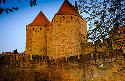 Just after dawn the first rays of sunlight glance across the walls and turrets of the medieval Cité de Carcassonne in southern France<br /> <br /> (c) Andrew Wilson | Edinburgh Elite media