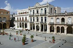 Plaza Vieja; Havana; Cuba,